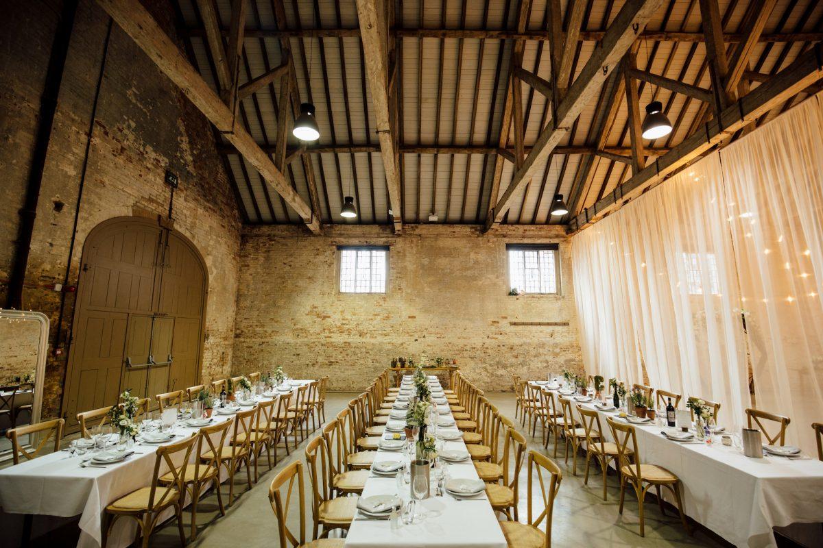 The Riding School, Calke Abbey Wedding Venue
