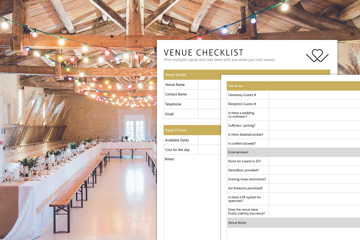 Download Wedding Venue Checklist