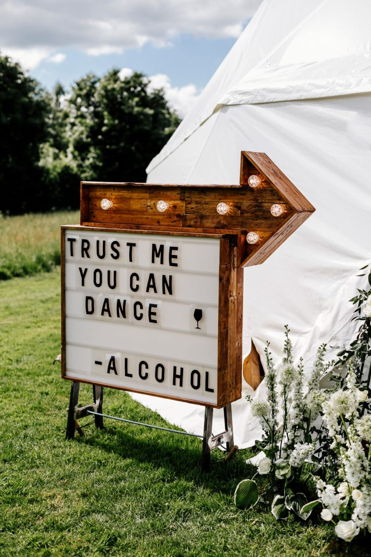 Festival Wedding Sign