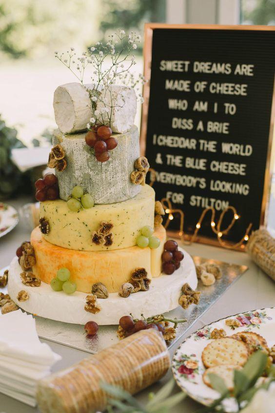 Wedding Cheese Cake Tower