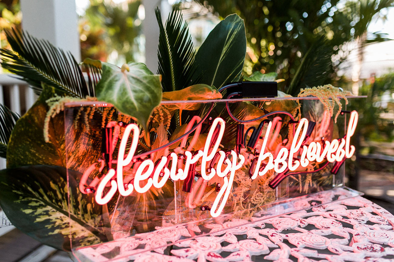 Dearly Beloved Neon Sign