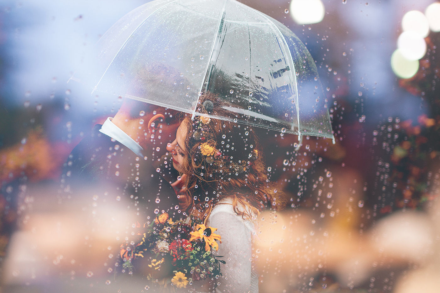 How To Embrace the Rain on your Wedding Day