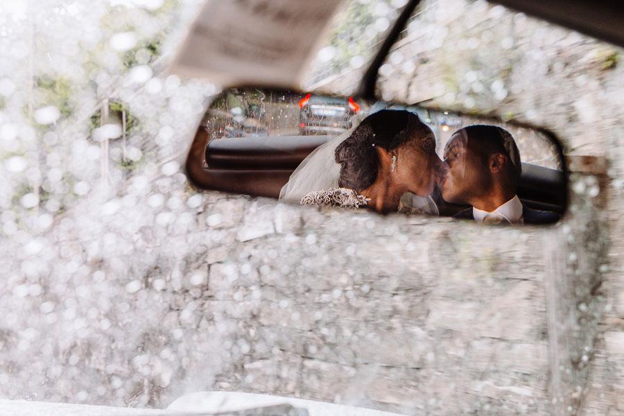 Rain Wedding Shot