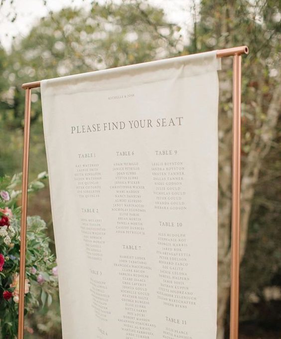 Linen Table Plan