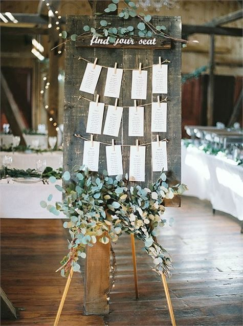 Rustic Wedding Table Plan Signs