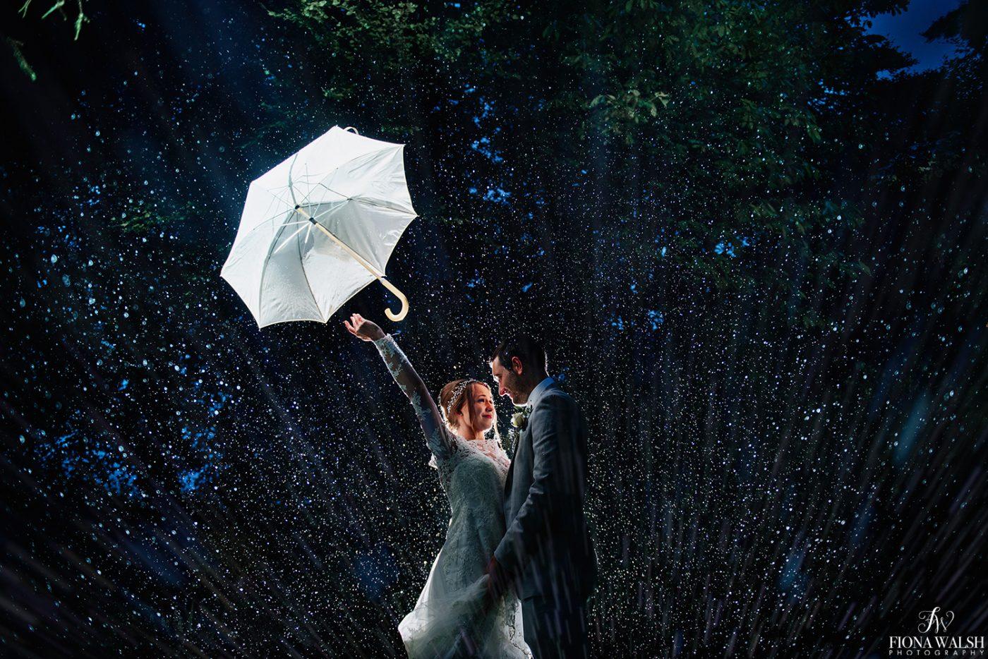 Wedding Photos in the Rain
