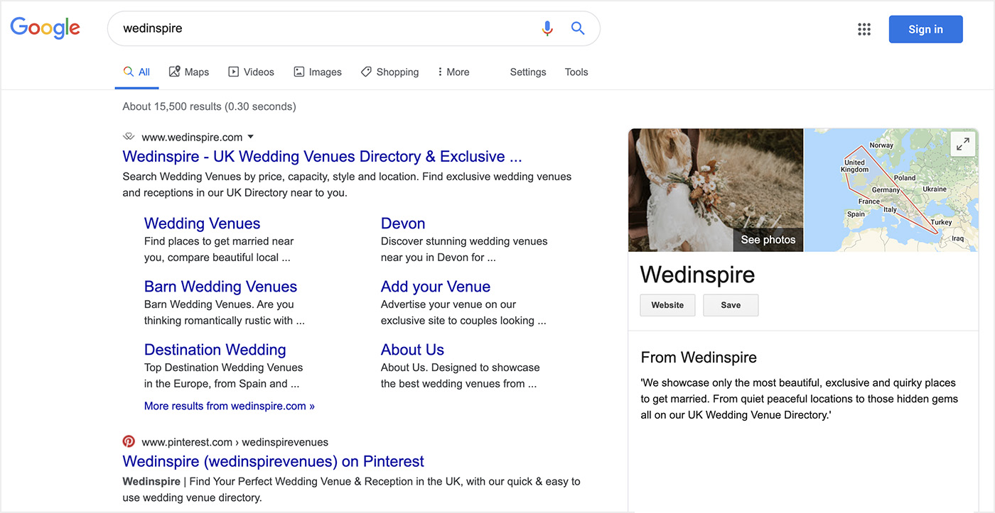 google business for wedding venues