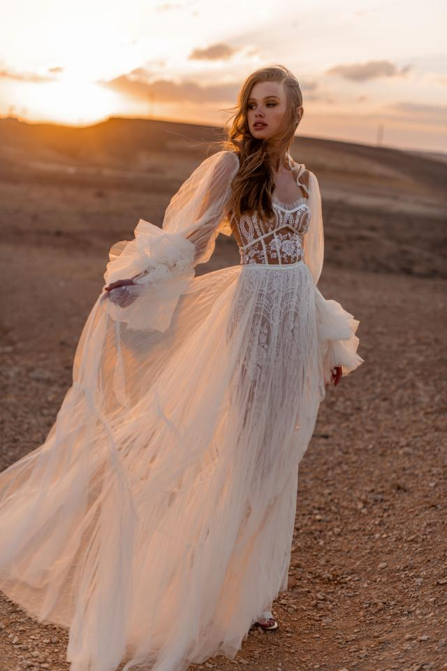 Puff Sleeve Bridal Gown