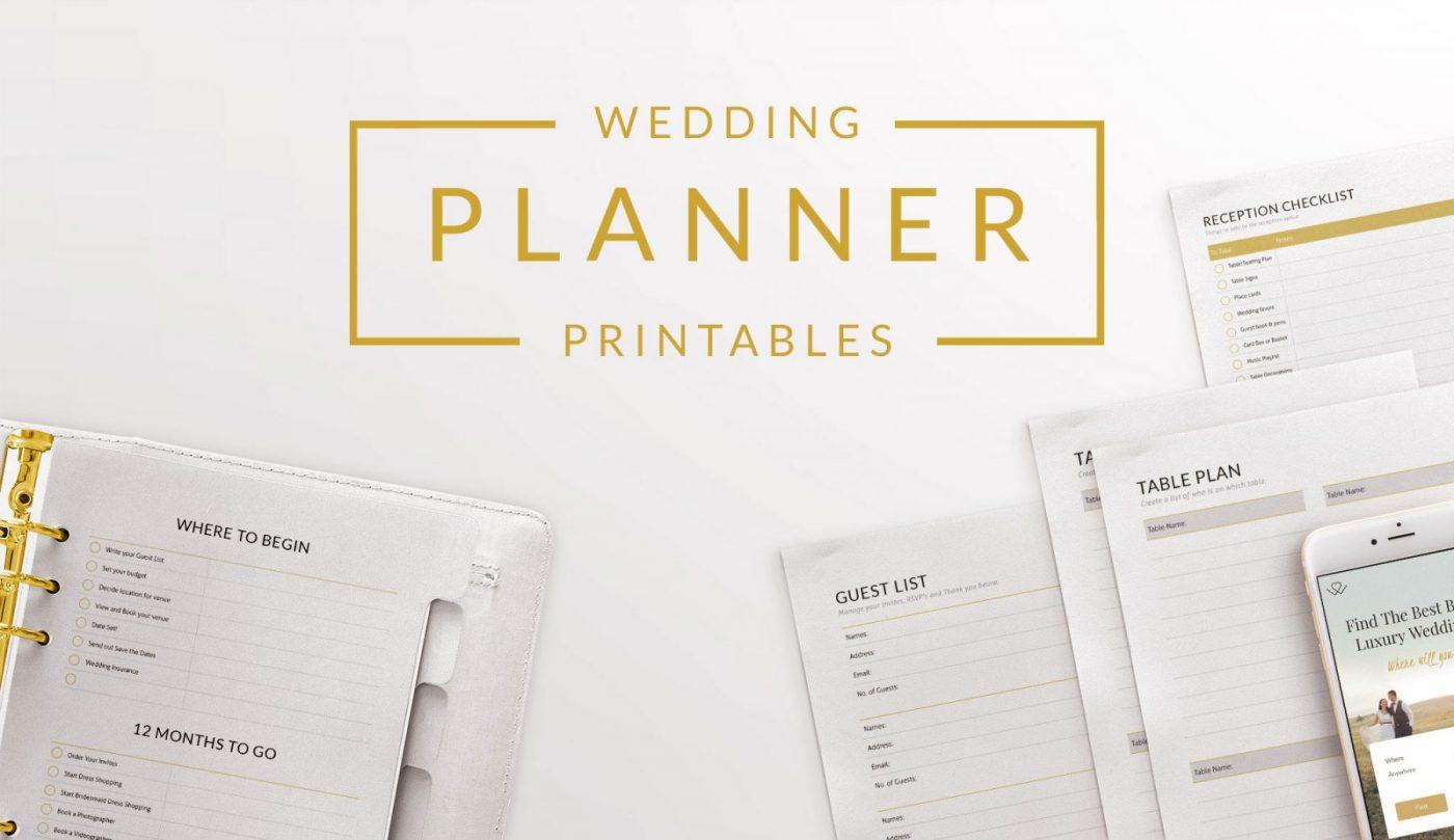 Ultimate Free Printable Wedding Planning Checklist Binder Templates