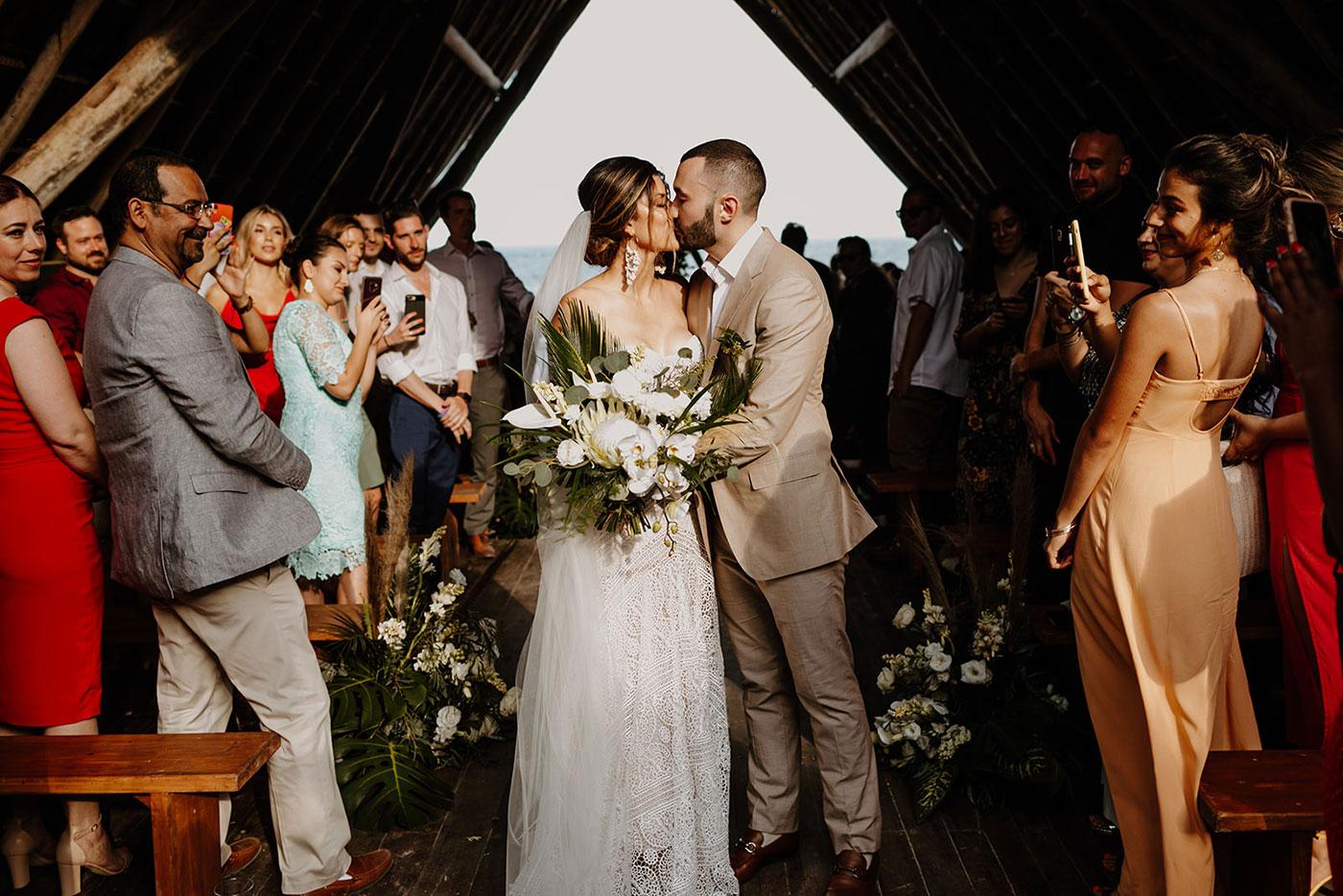 Donna & Amine's Boho Beach Wedding in Mexico