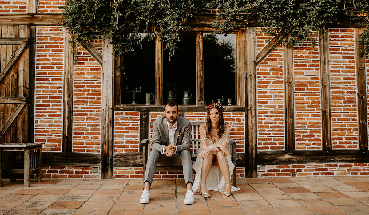 Sonia & Jérémy's Modern Boho Wedding in France