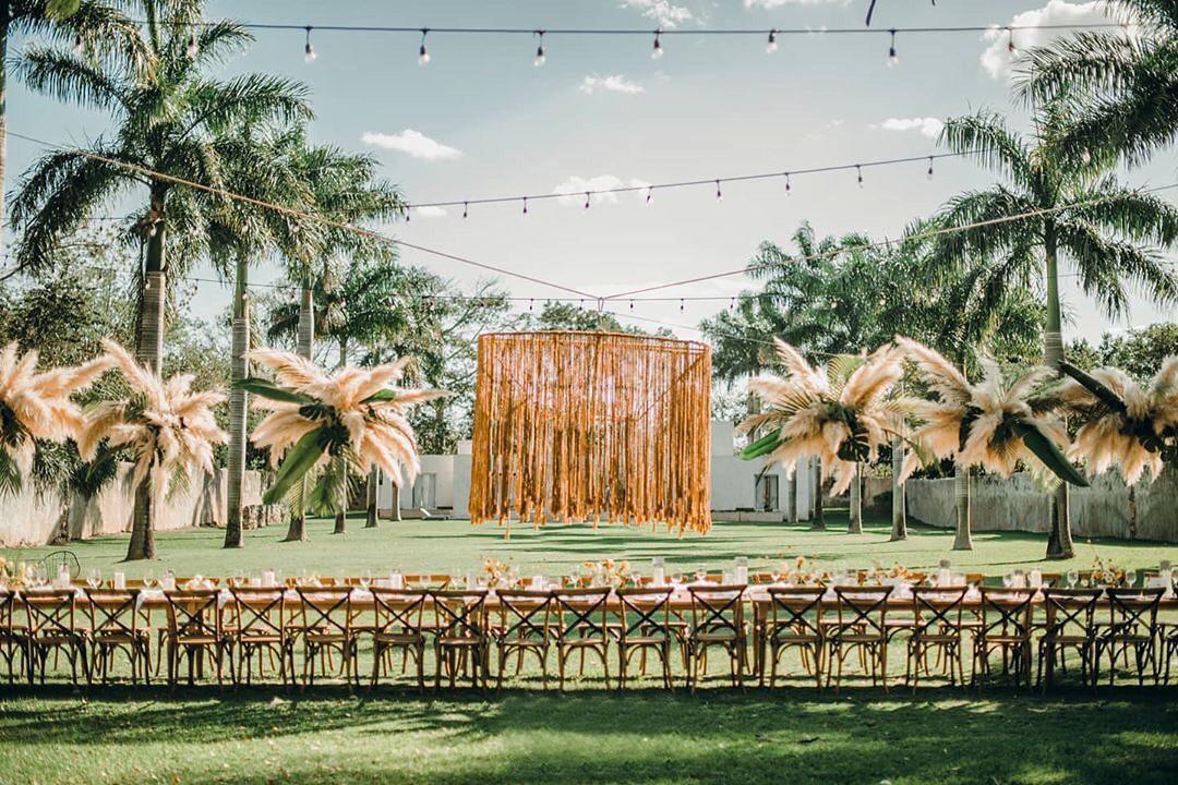 """Venue <a href=""""https://www.wedinspire.com/wedding-venues/mexico/hacienda-sac-chich/"""" target=""""_blank"""" rel=""""noopener noreferrer"""">Hacienda Sac Chic</a>"""