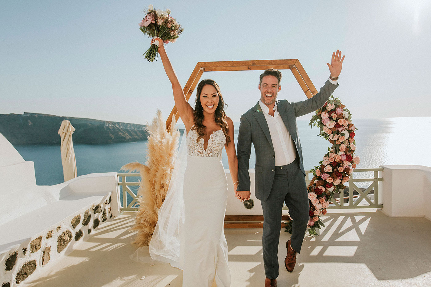 Chyna & Brandon's Scenic Santorini Wedding