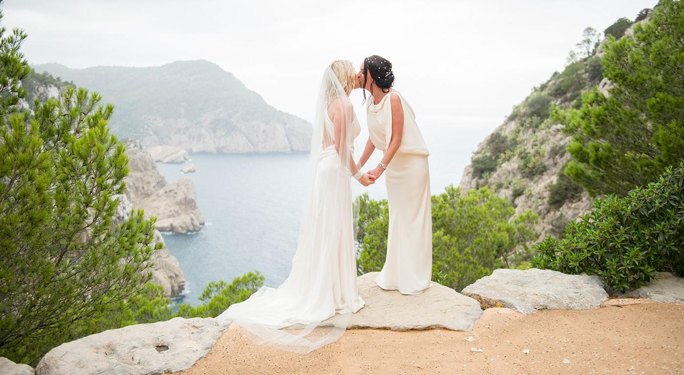 Gemma & Rebecca's Sea-View Wedding in Ibiza